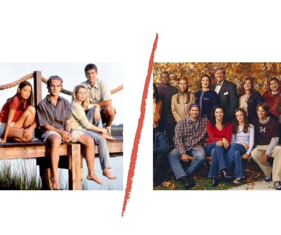 Images from Dawson's Creek and Gilmore Girls