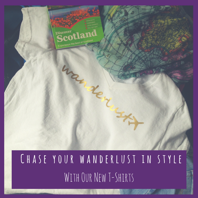 Wanderlust t-shirt from Sweet Frivolity