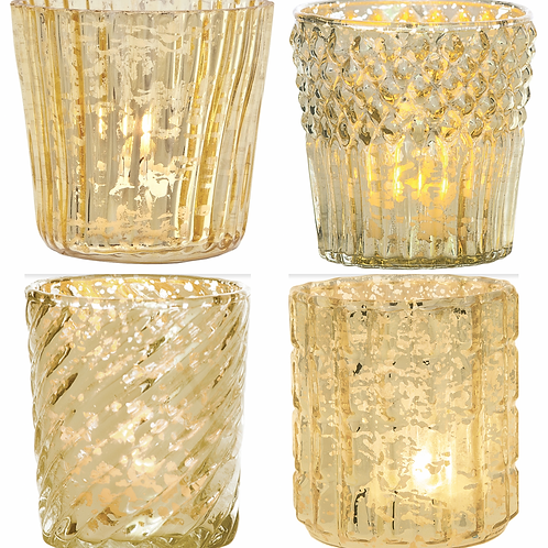 Votive - Gold Mercury Glass