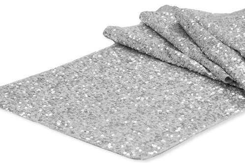 Silver Sequin - Table Runner