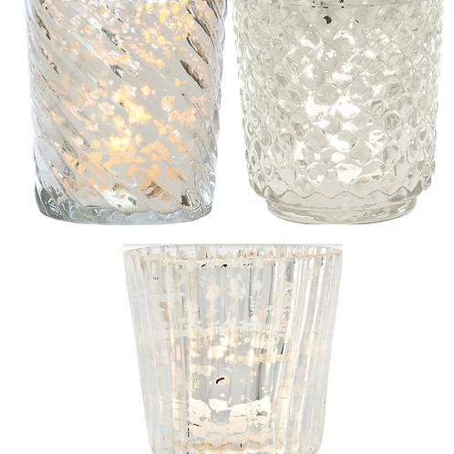 Votive - Silver Mercury Glass