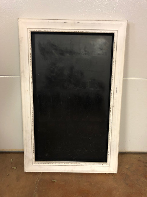 "Chalkboard Sign - White Frame - 22"" x 34"""