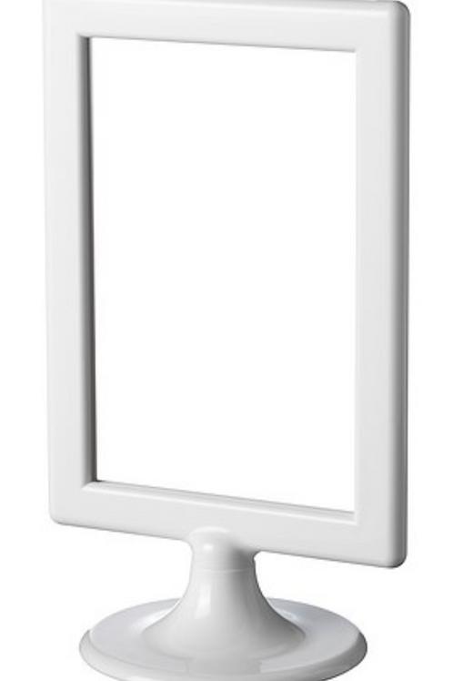 Table Number Frames - White Pedestal