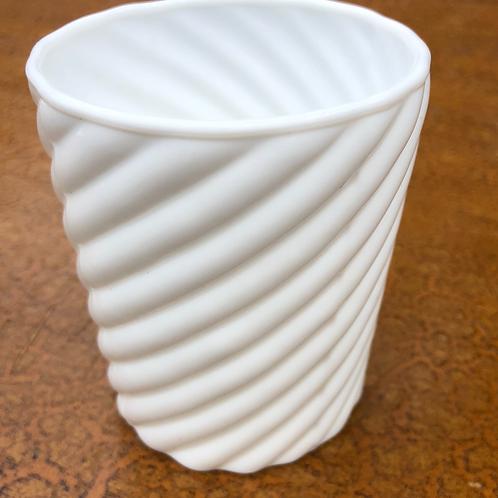 Votive - White Glass