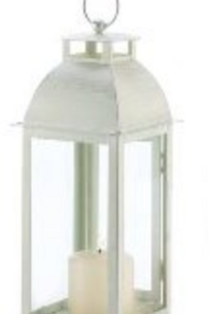 Lantern- White Distressed