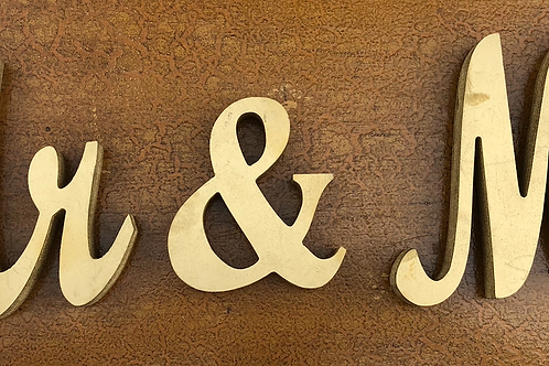 Mr & Mrs Sign -Gold