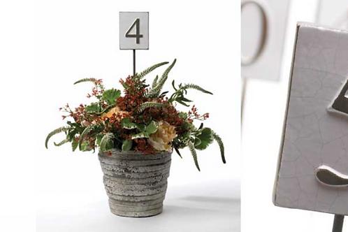 Table Numbers - Rustic Ceramic