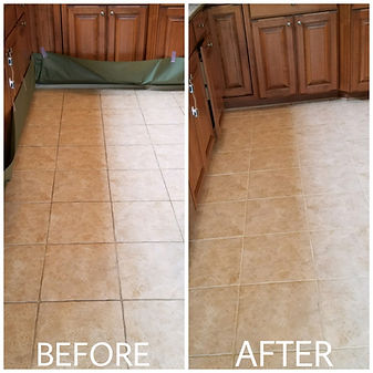 clean grout before after