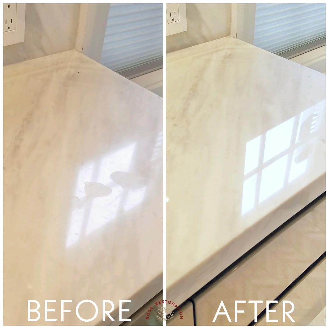 Polished White Marble