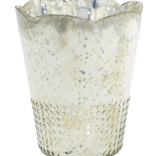 "Mercury Glass Vase - Silver - 6""x7.5"""