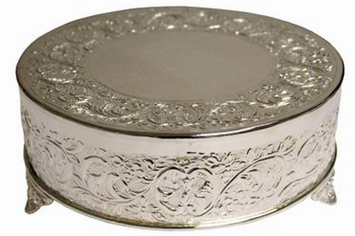 "Cake Stand - Silver - 14"" Round"
