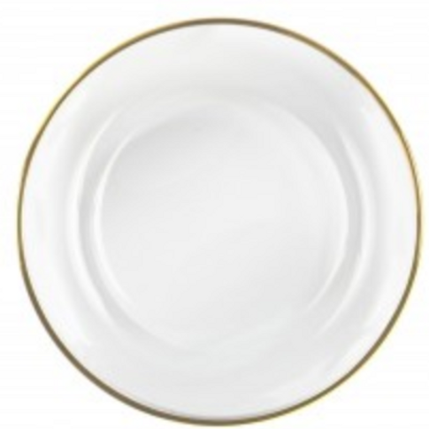 Charger Plates - Clear Glass With Gold Trim
