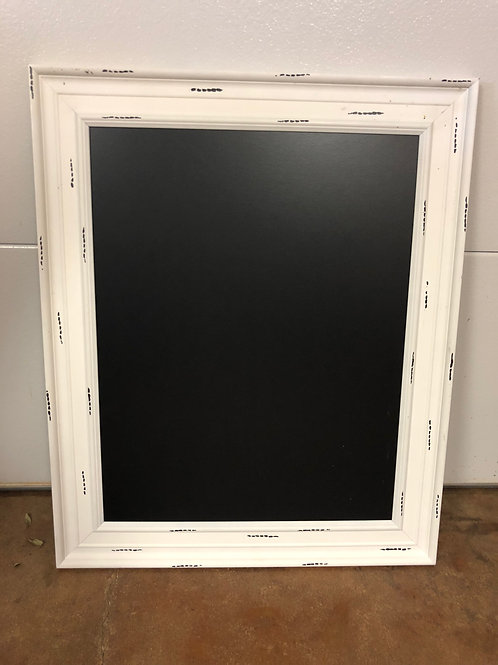 "Chalkboard Sign - White Frame - 28"" x 34"""