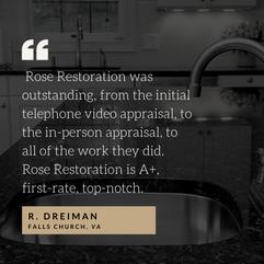 Granite Restoration Testimonial