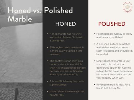 Honed vs. Polished Marble