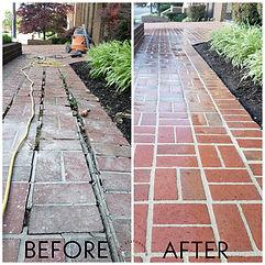 Brick sidewalk restoration