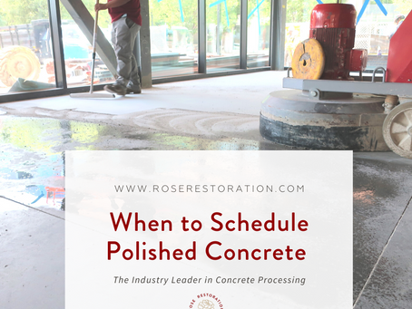 When to Schedule Polished Concrete and How to Care for Concrete After Processing