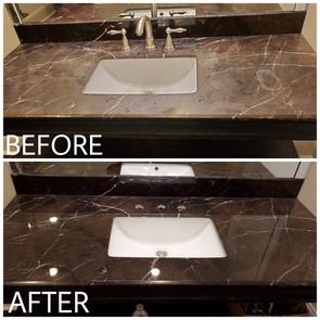 Marble Vanity Restration