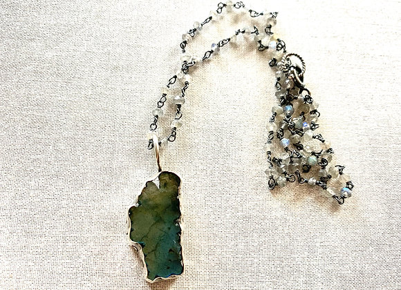Labradorite Lake Tahoe Necklace