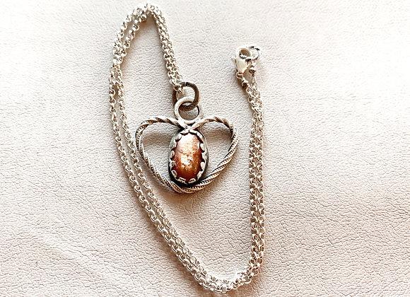 Sunstone Heart Necklace