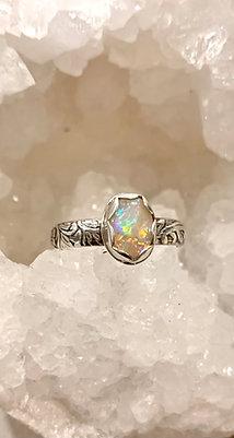 Australian Crystal Opal Ring