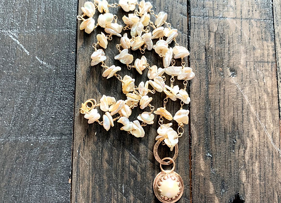 Mabe & Keishi Pearl Necklace