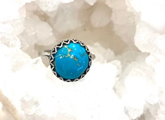 Nevada Blue Turquoise Gemstone Ring