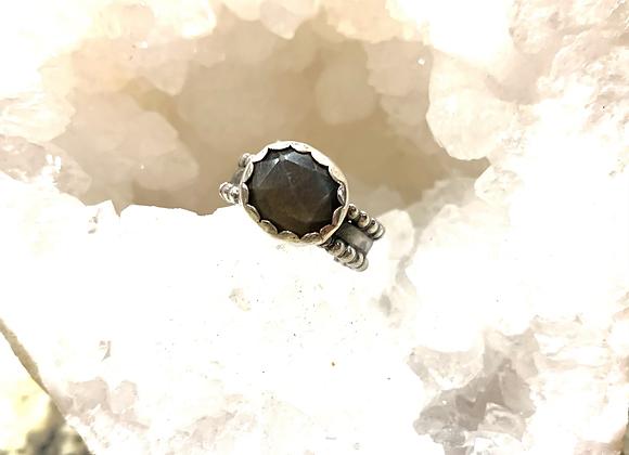 Black Sunstone Ring