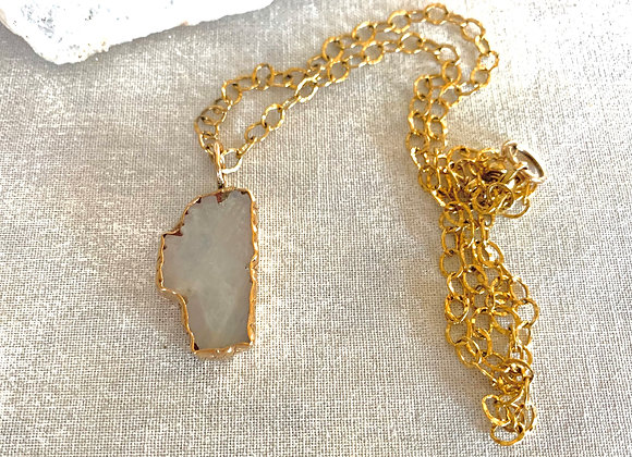 Gold Filled Moonstone Lake Tahoe Necklace