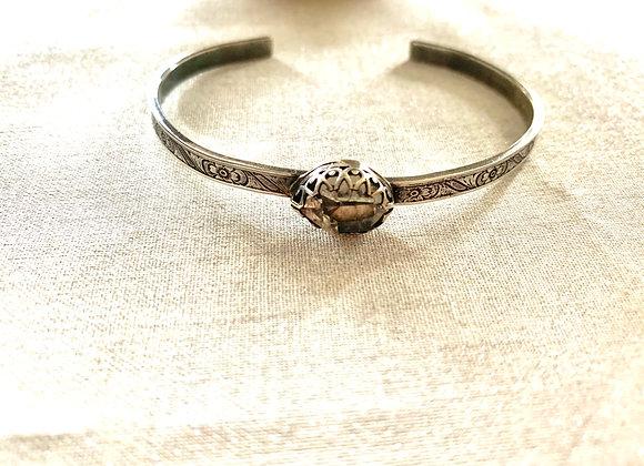 Herkimer Diamond Cuff Bracelet