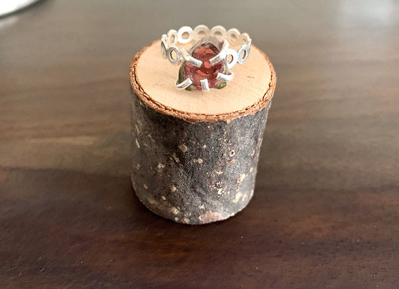 Dainty Watermelon Tourmaline Ring