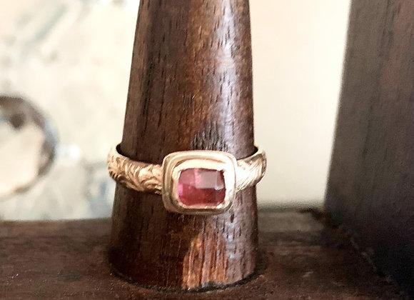 Pink Tourmaline Gold Filled Ring