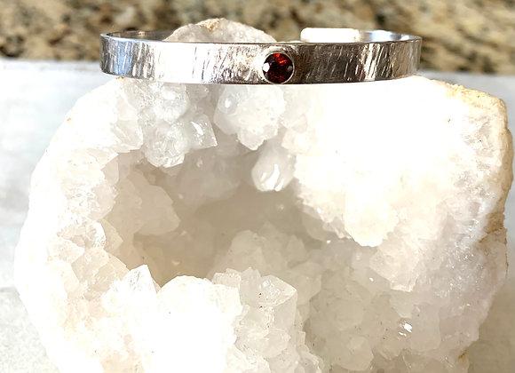 Fire Citrine Gemstone Cuff Bracelet