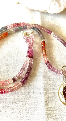 Pink Tourmaline & Spinel Necklace