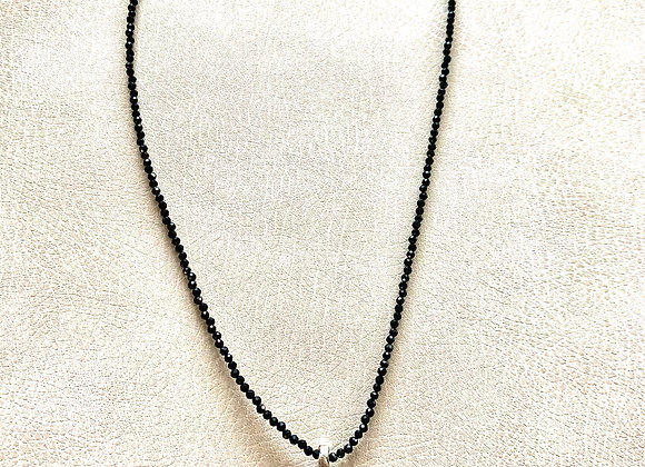 Mexican Fire Opal on Black Spinel Necklace
