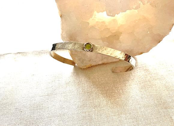 Peridot Gemstone Cuff Bracelet