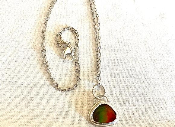 """Ammolite Gemstone """"Pride"""" Necklace"""
