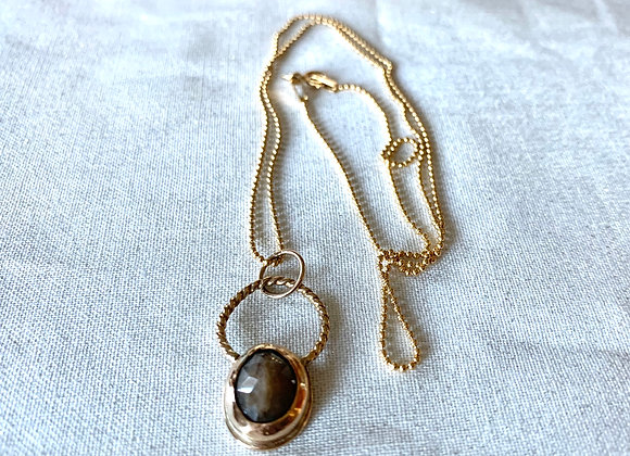 Petite Yellow Gold Filled Sapphire Necklace