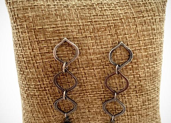 Three Tiered Mystic Labradorite Earrings