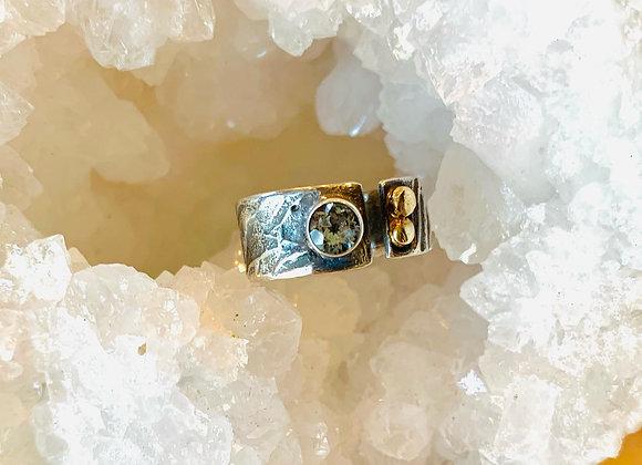 Chunky Aquamarine Gemstone Ring