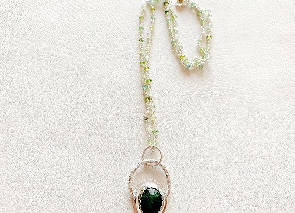 Emerald and Moss Aquamarine Necklace