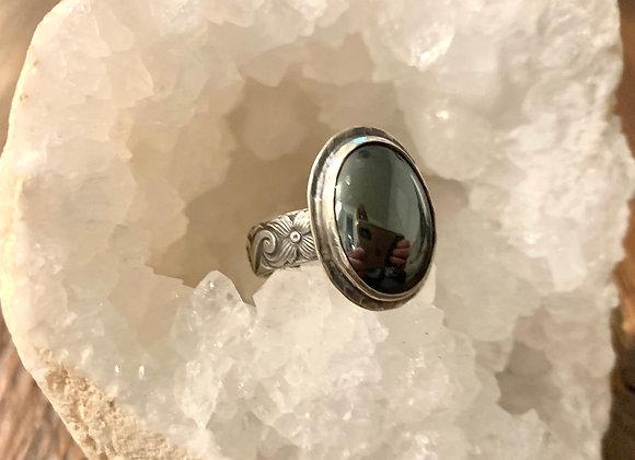 Hematite Gemstone Ring