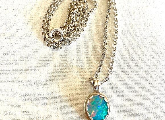 Australian Opal Gemstone Necklace