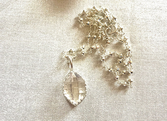 Crystal Clear Herkimer Diamond Necklace