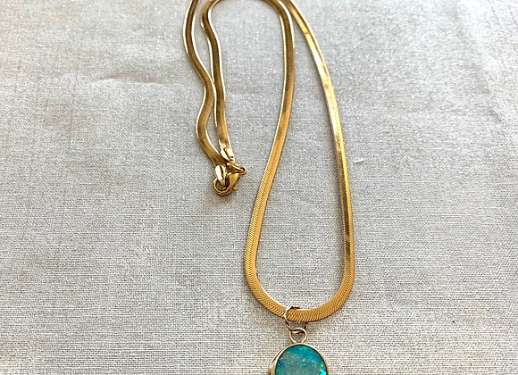 Gold Filled Australian Boulder Opal Necklace
