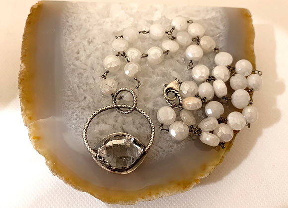 Herkimer Diamond & Moonstone Necklace