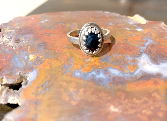 Faceted Blue Tourmaline Ring