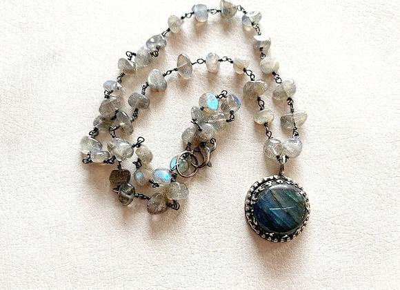 Labradorite Flame Necklace