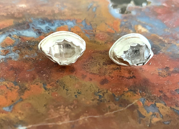 Herkimer Diamond Post Earrings