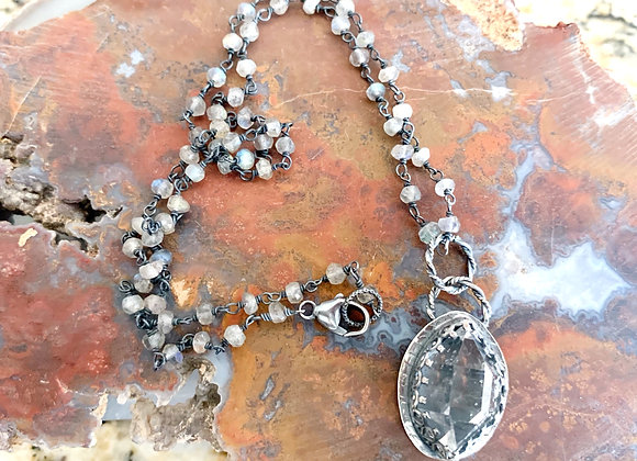 Herkimer Diamond & Labradorite Necklace